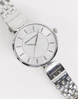 Armani Exchange - AX5327 – Armbanduhr mit schmalem Armband-Silber