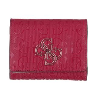 guess - Portemonnaie - Chic Shine Wallet Small Trifold Berry - in rot - für Damen