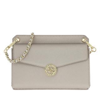 guess - Umhängetasche - Mini Flap Holdall Crossbody Silver - in silber - für Damen