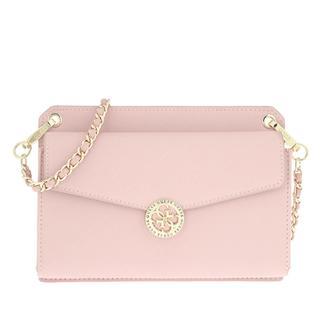 guess - Umhängetasche - Mini Flap Holdall Crossbody Blush - in rosa - für Damen