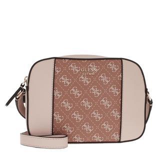 guess - Umhängetasche - Kamryn Crossbody Bag Cinnamon Multi - in rosa - für Damen