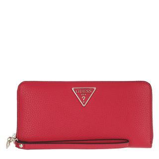 guess - Portemonnaie - Becca Wallet Large Zip Around Red - in rot - für Damen
