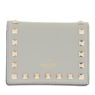 Valentino - Portemonnaie - Small Continental Wallet Leather Opal Grey - in grau - für Damen