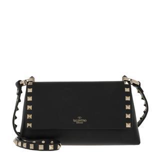 Valentino - Umhängetasche - Rockstud Crossbody Bag Leather Nero - in schwarz - für Damen