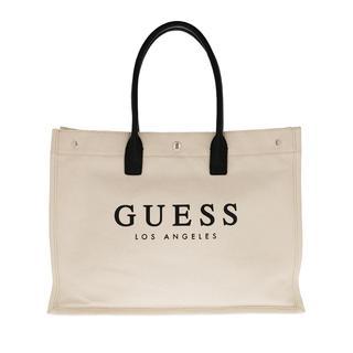 guess - Shopper - Tani Canvas Tote Natural - in beige - für Damen