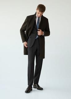 MANGO MAN - Tailored-mantel aus woll-mix