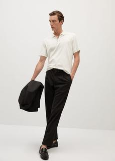 MANGO MAN - Baumwoll-poloshirt mit reißverschluss