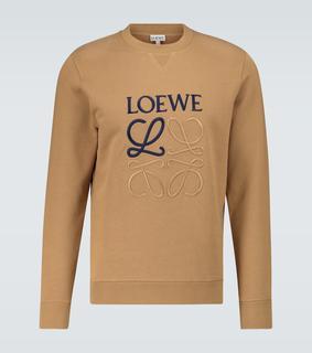Loewe - Besticktes Sweatshirt aus Baumwolle
