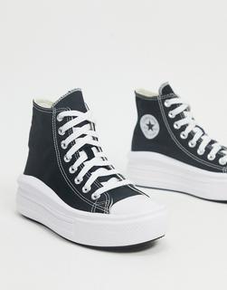 CONVERSE - Chuck Taylor – Move – Schwarze Hi-Top-Sneakermit Plateausohle