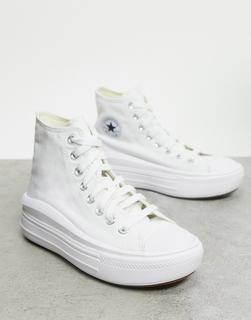CONVERSE - ChuckTaylorMove – Knöchelhohe Sneaker mit Plateau-Sohle in Weiß