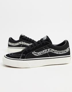 Vans - UA Low Reissue Old Skool – Sneaker mit Schlangenmuster in Schwarz