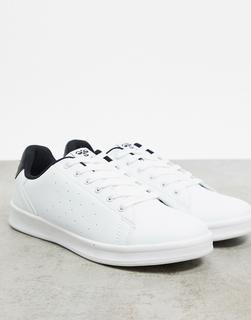 Hummel - Hive Busan – Weiße Sneaker mit schwarzer Ferse