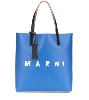 Marni - Bedruckter Shopper mit Leder