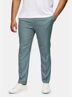Topman - Mens Green Big & Tall Sage Skinny Suit Trousers*, Green
