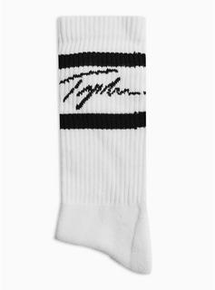 Topman - Mens Signature White Stripe Tube Socks, White