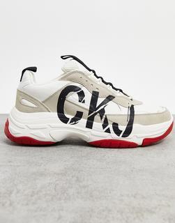 Calvin Klein - Mizar – Sneaker in Hellbraun und Weiß