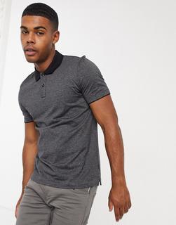 Boss - Plater – Poloshirt mit Kontrastkragen-Schwarz