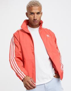 adidas Originals - Trainingsjacke mit Logo in Rot