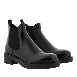 Prada - Boots - Bootie Leather Nero - in schwarz - für Damen