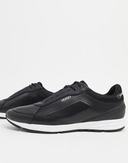 Boss - HUGO – Hybrid – Laufsport-inspirierte Sneakermit bunt schillernden Elementen-Schwarz