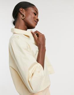 ONLY - Kurzes Hemd mit Puffärmeln in Creme-Cremeweiß