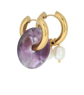 Timeless Pearly - Vergoldete Ohrringe mit Perlen