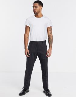 Calvin Klein - Paris – Woll-Anzughose mit Stretch-Schwarz