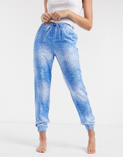 Calvin Klein - Loungewear – Jogginghose mit Wellenprint-Blau