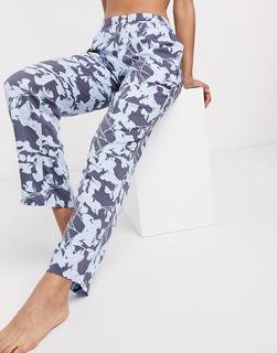 Calvin Klein - Loungewear – Pyjamahose mit auffälligem Blumenmuster-Mehrfarbig
