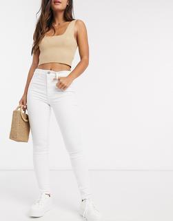 Hollister - Gerade geschnittene Jeans mit hohem Bund-Weiß