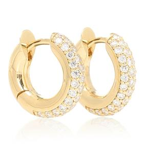 Spinelli Kilcollin - Creolen Mini Macro Hoop aus 18kt Gelbgold mit Diamanten
