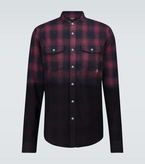 Balmain - Kariertes Hemd aus Baumwollflanell
