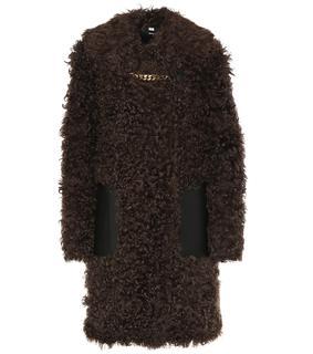 Burberry - Mantel aus Shearling und Leder