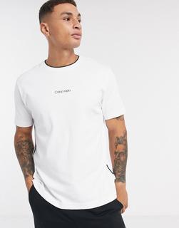 Calvin Klein - Liquid Touch – T-Shirt mit Logo-Grün