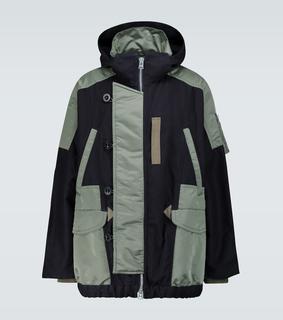 Sacai - Tech-Jacke aus Baumwolle