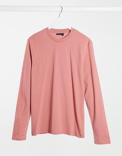 ASOS DESIGN - Langärmliges Shirt in Rosa