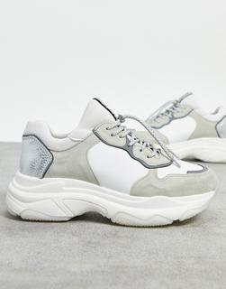 Bronx - Klobige Sneaker aus Leder in Weiß