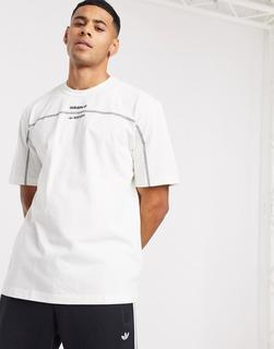 adidas Originals - RYV – T-Shirt in gebrochenem Weiß