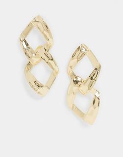ASOS DESIGN - Goldfarbene, elegante Gliederohrringe