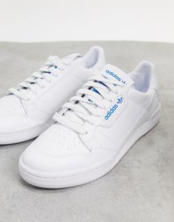 adidas Originals - Continental 80 – Sneaker in Weiß und Kornblumenblau