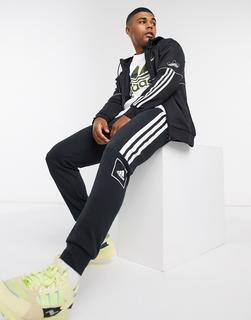 adidas Originals - Outline – Kapuzenjacke in Schwarz