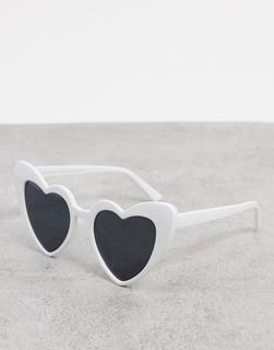 SVNX - Herzförmige Sonnenbrille inWeiß