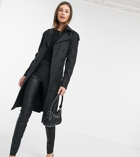 Fashion Union Tall - Trenchcoat-Schwarz