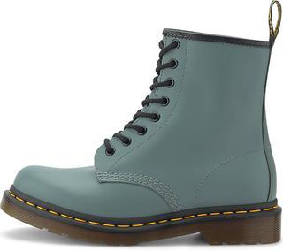 DR. MARTENS - Schnür-Boots 1460 Smooth in mittelgrau, Boots für Damen