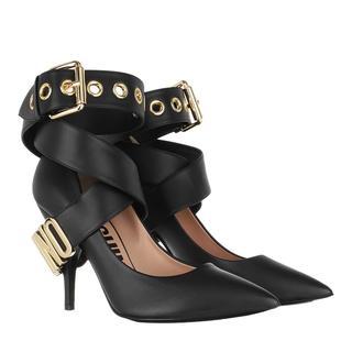Moschino - Pumps - Logo Strap Pumps Leather Black - in schwarz - für Damen