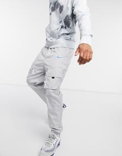 Nike - Air – Gewebte Jogginghose mit Bündchen inGrau