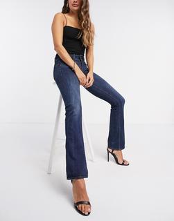 G-Star - Bootcut-Jeans mit hohem Bund in mittlerer Waschung-Blau