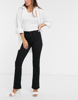 Levis - Levi's – 725 – SchwarzeBootcut-Jeans mit hohem Bund