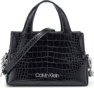 Calvin Klein - Handtasche Neat Croc Mini in schwarz, Henkeltaschen für Damen