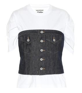 Junya Watanabe - T-Shirt aus Baumwolle und Denim